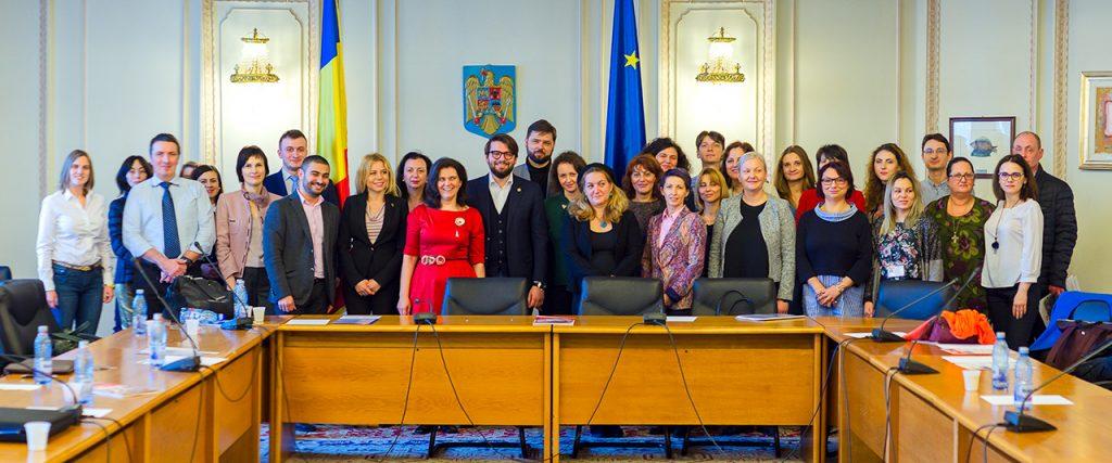 12 martie 2018, Participanti dezbatere prevenire bullying Parlament martie 2018