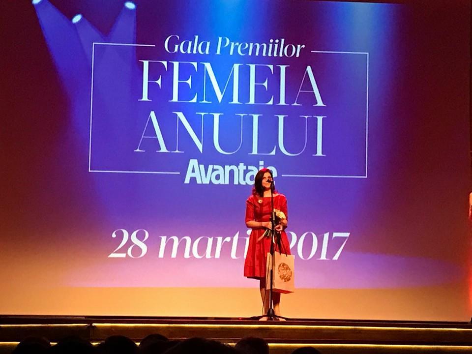 Nadia Tataru la Gala Premiilor Femeia Anului oferite de revista Avantaje