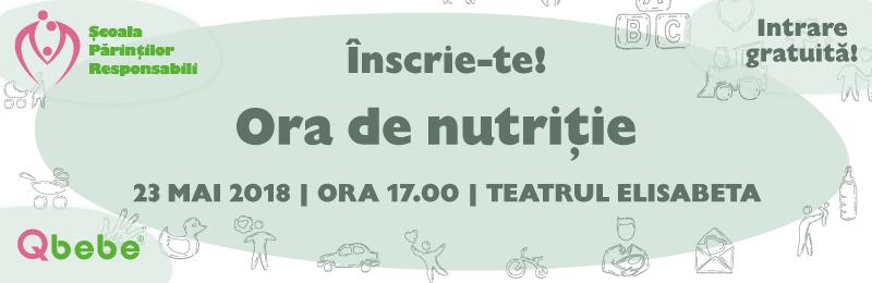 Au inceput inscrierile la Ora de Nutritie! Seminar gratuit pentru parintii responsabili