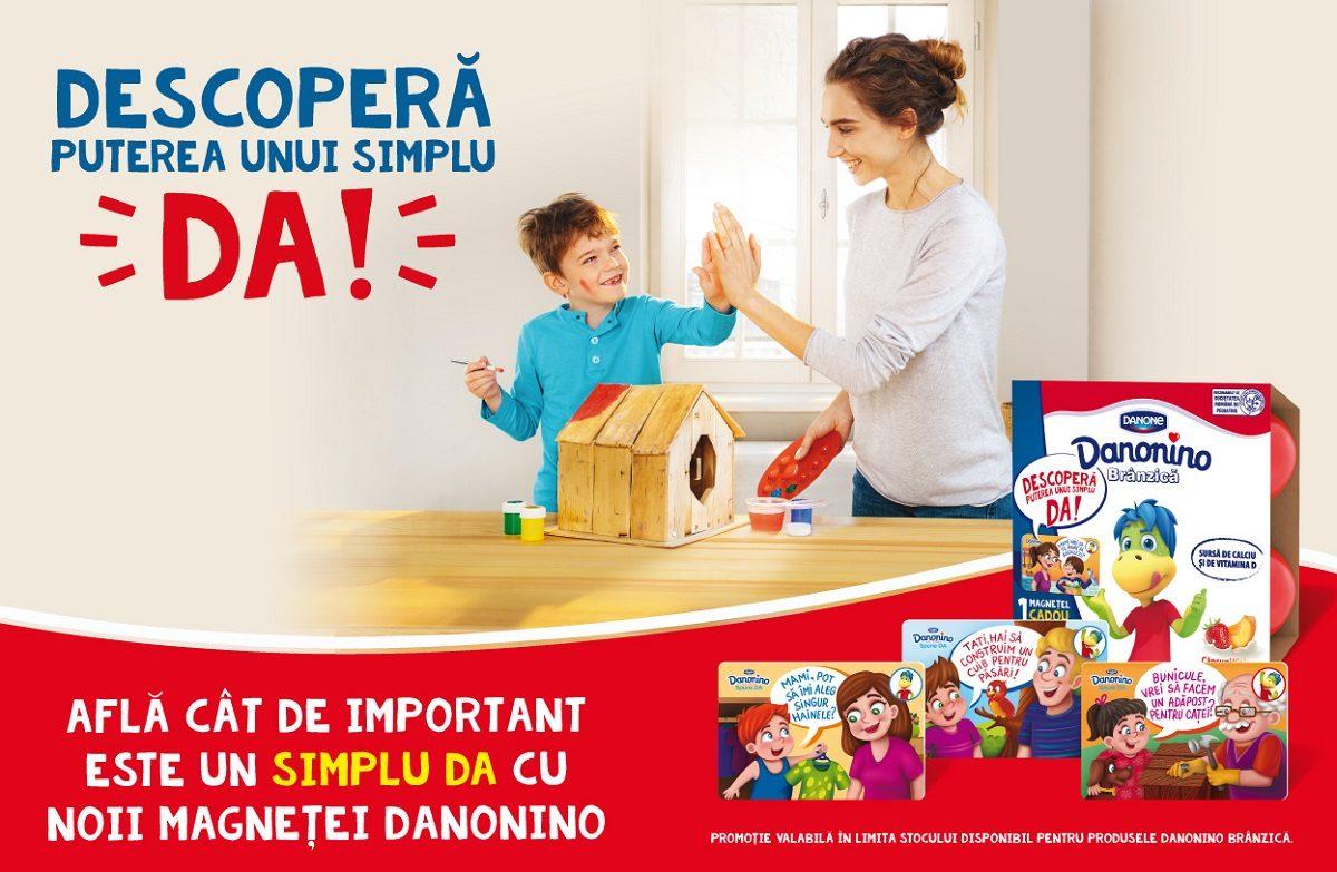 """""""Descopera puterea unui simplu DA!"""" alaturi de SuperZAPA si Danonino"""