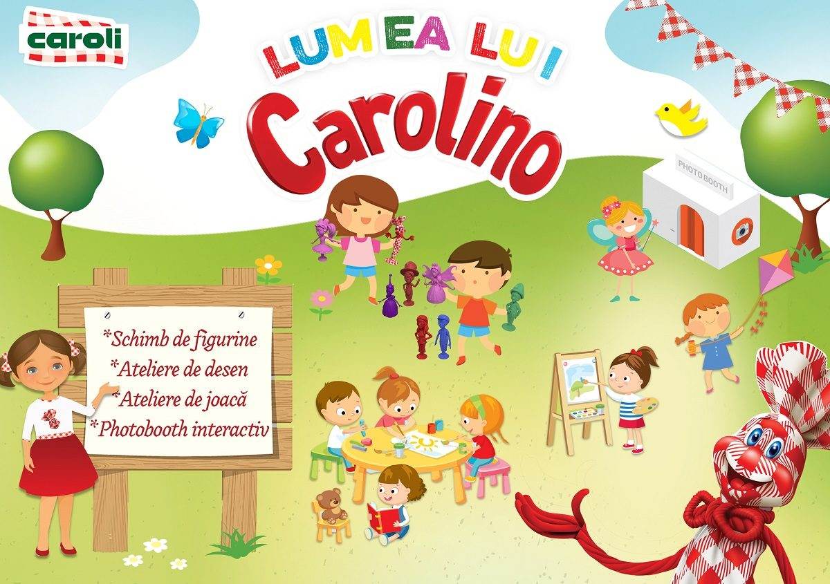 Caroli ii invita pe copii in Lumea lui Carolino, de 1 iunie