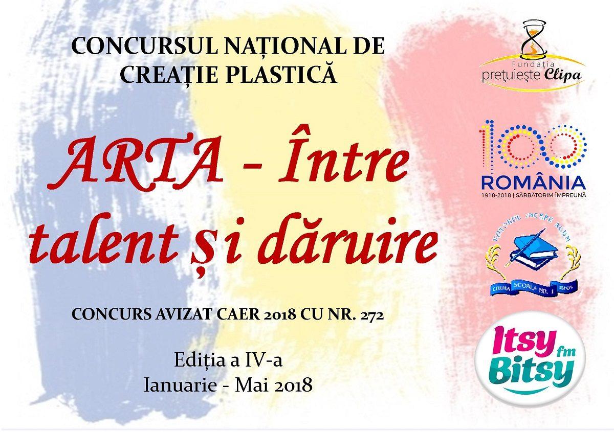"""Concurs de Creatie Plastica: """"Arta – Intre Talent si Daruire"""""""