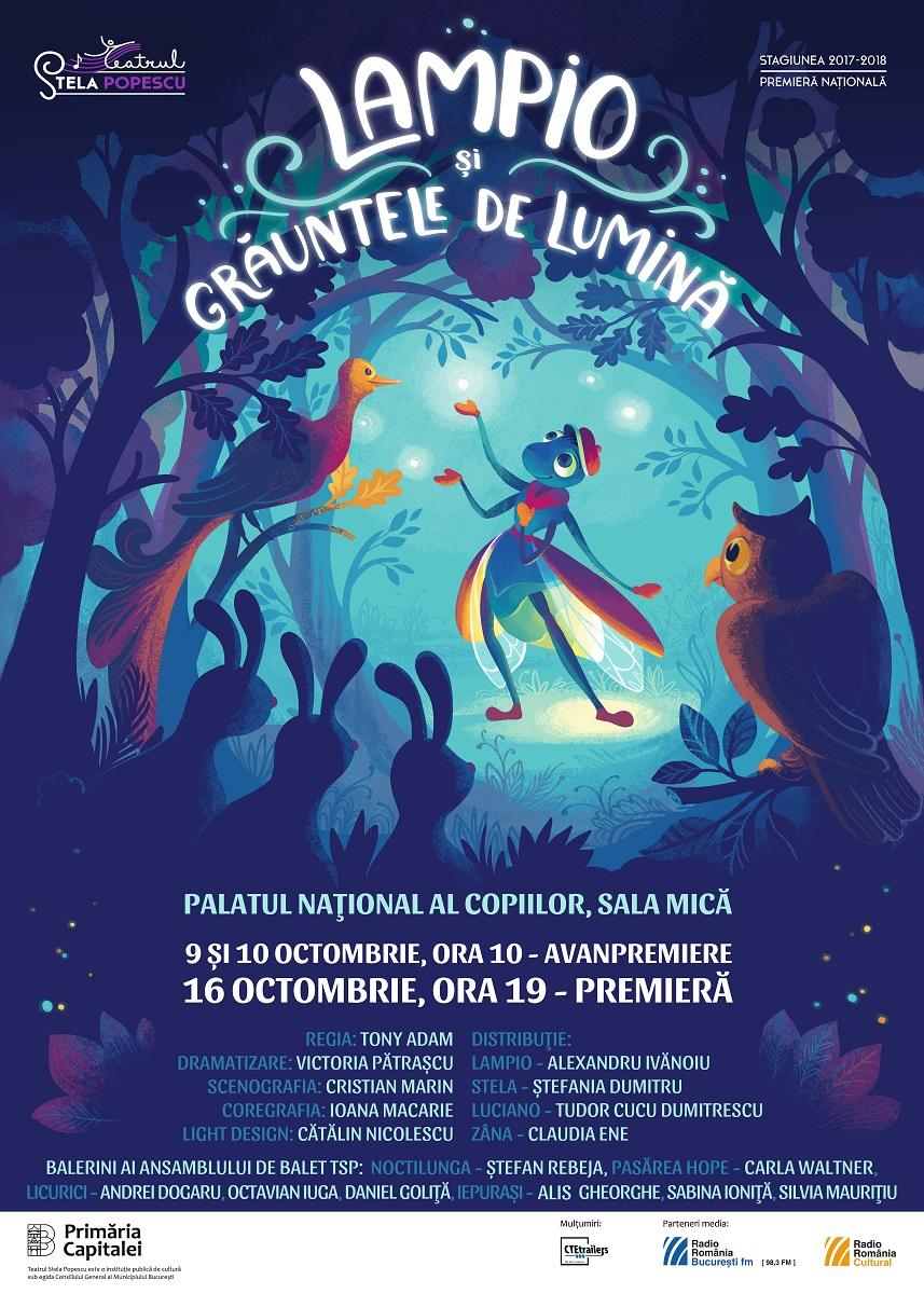 Un nou spectacol pentru copii anuntat la Teatrul Stela Popescu