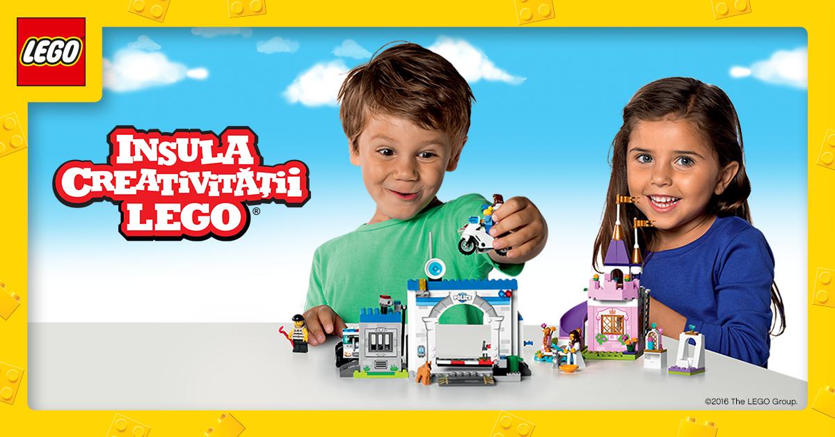 Hai sa construiesti la Insula Creativitatii LEGO®!