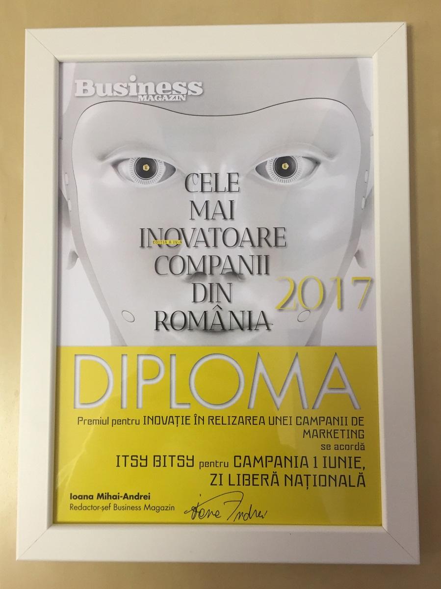 Itsy Bitsy este printre Cele mai Inovatoare Companii din Romania 2017