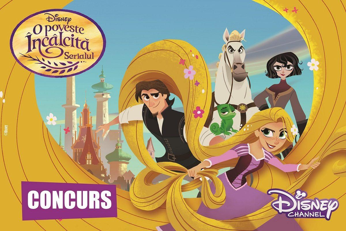 """Castiga unul dintre cele 10 kit-uri """"O Poveste Incalcita: Serialul"""", oferite de Disney Channel!"""