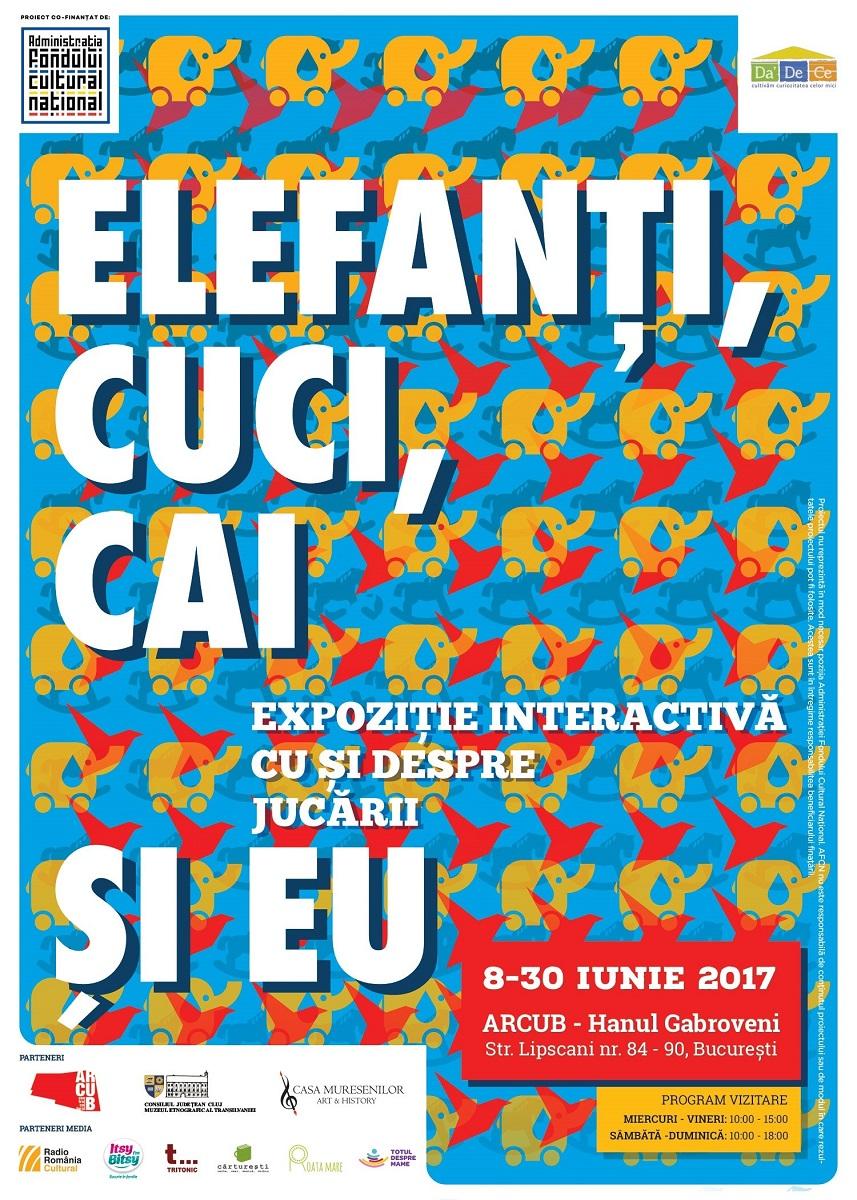 "Recomandarea Itsy Bitsy: Expozitia interactiva ""Elefanti, cuci, cai si EU"""