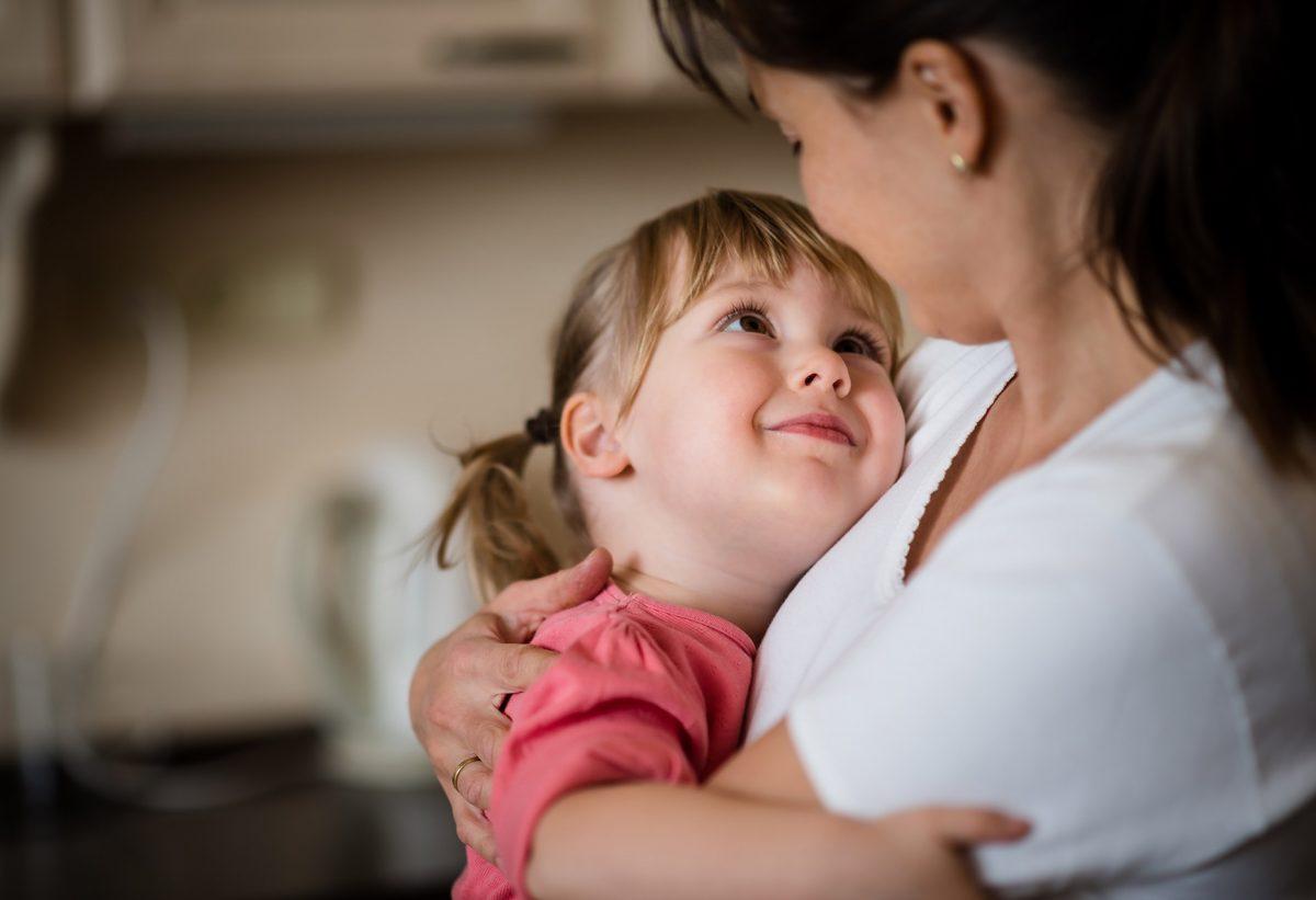 Dovezi de afectiune din partea copiilor mici