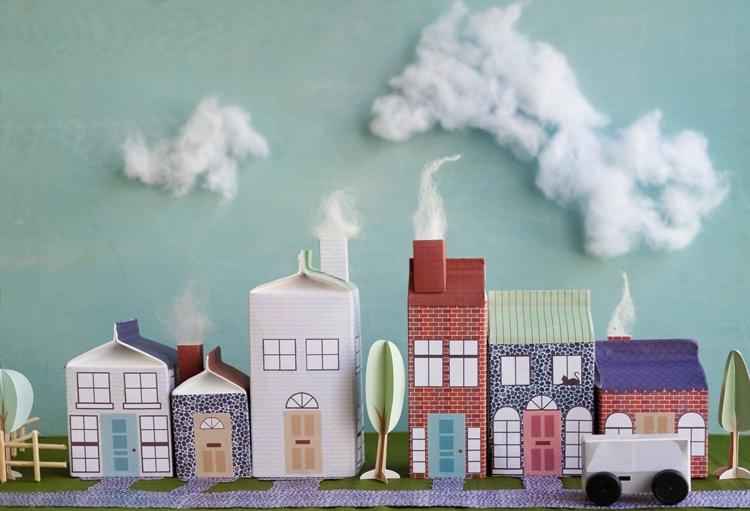 Orasul din cutii de carton