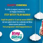 Vara asta, ai Itsy Bitsy Film Mania la HAPPYCINEMA® cu filme gratuite pentru copiii sub 12 ani!