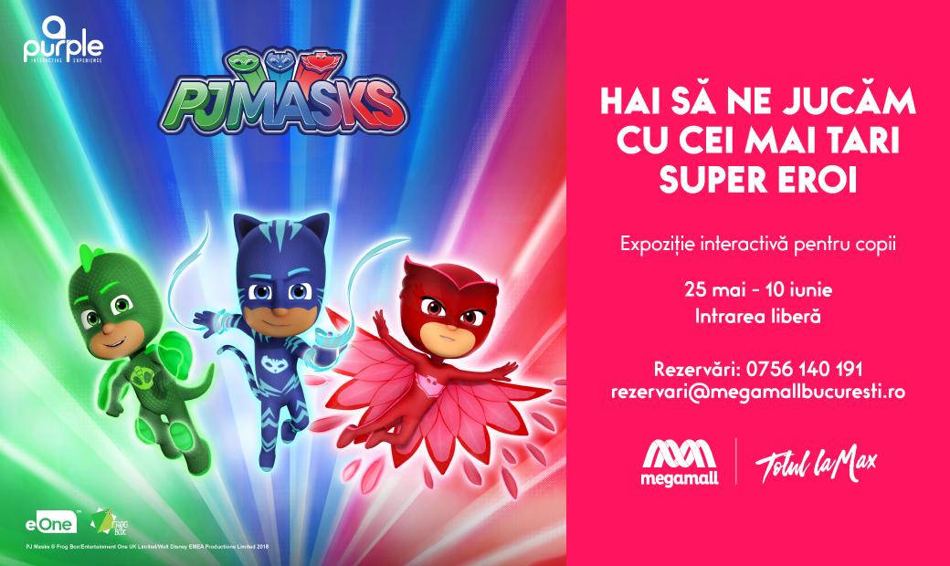 Vino la Mega Mall sa ne jucam cu Eroii in pijama!