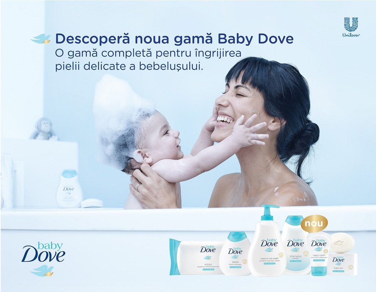Baby Dove aduce emotie in familie