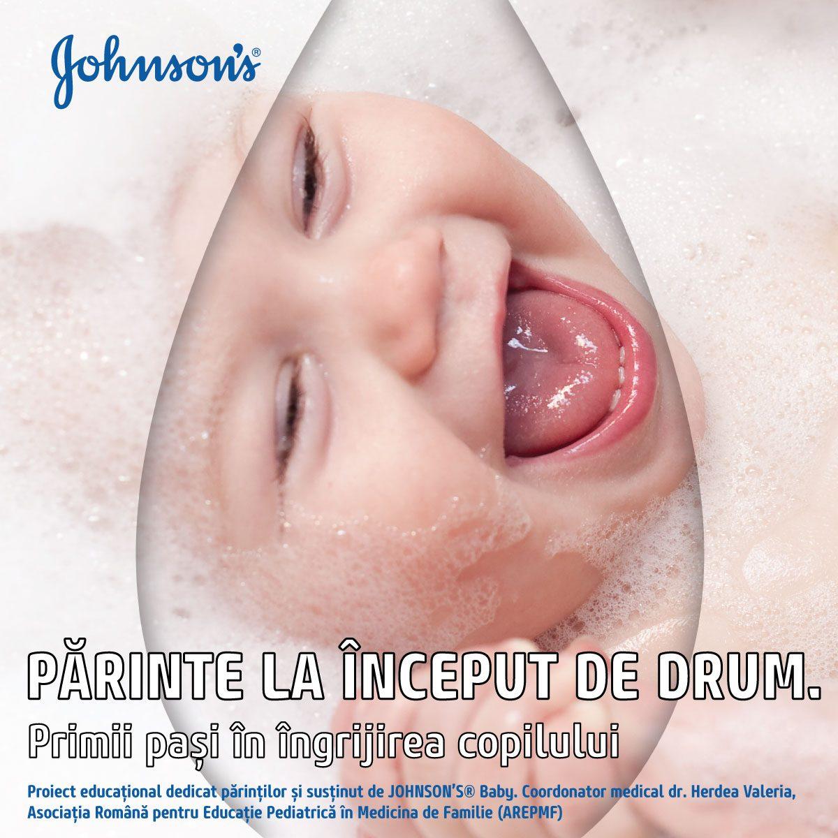 Johnson's®Baby lanseaza in Romania un ebook despre igiena si ingrijirea bebelusilor