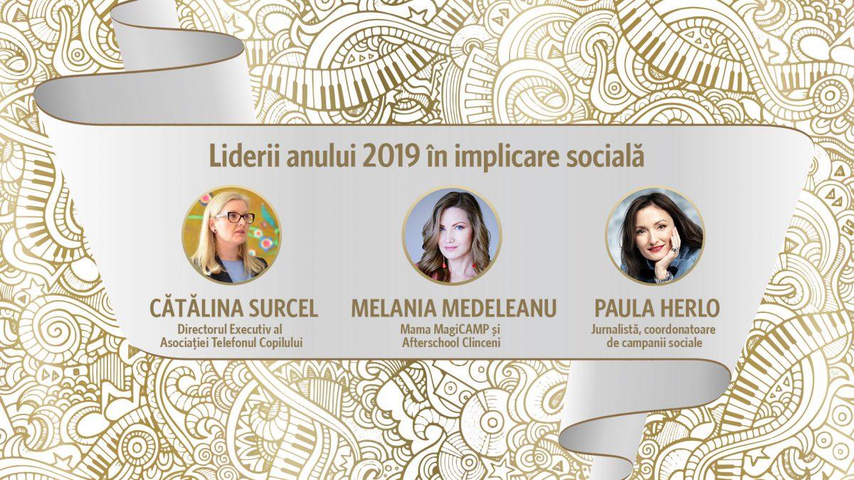 Liderul anului 2019 in implicare sociala