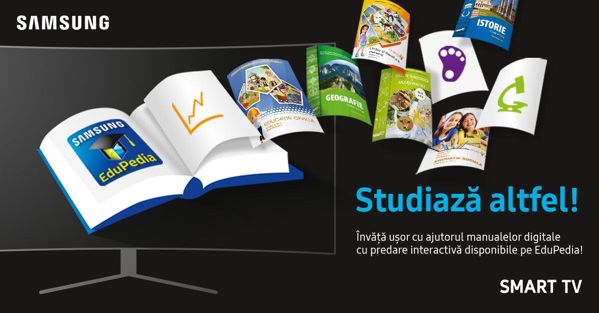 Copiii studiaza altfel cu Samsung EduPedia™
