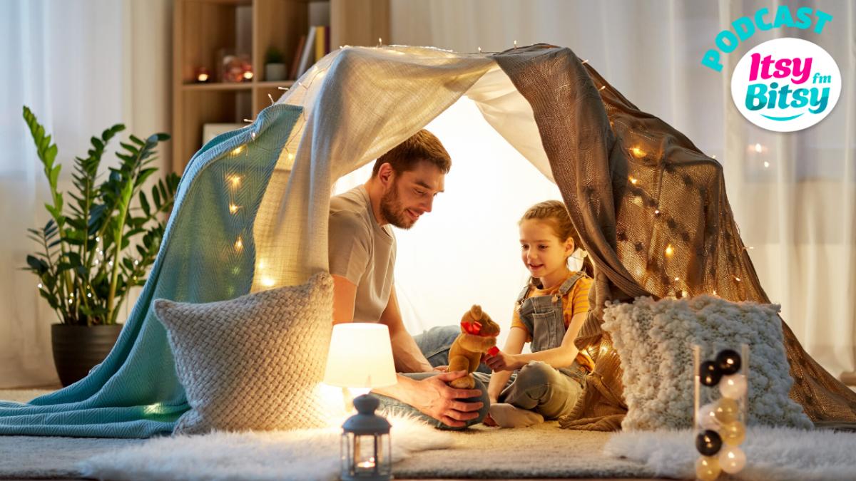 Cum il ajuti pe copil sa se simta in siguranta improvizand un cort acasa