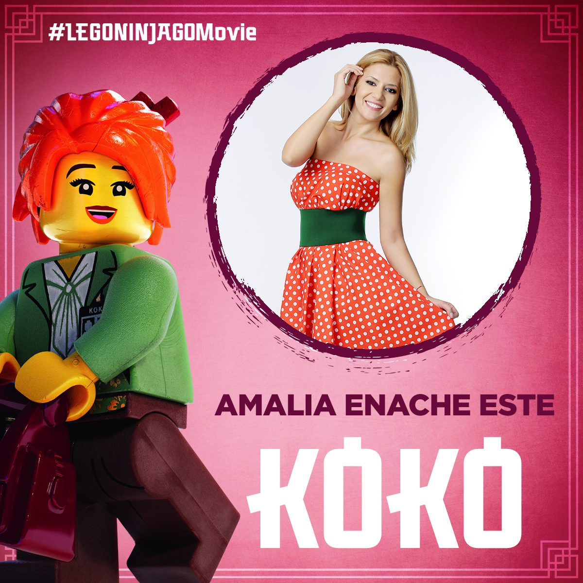 "Amalia Enache da voce unei mame grozave in ""THE LEGO® NINJAGO® MOVIE"""