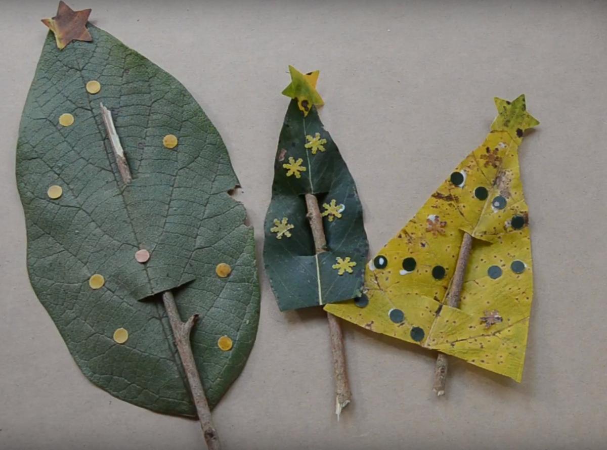 Decoratiuni de Sarbatori: Braduti din frunze si crengute