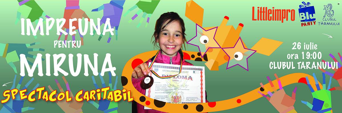 Spectacol caritabil LittleImpro: Impreuna pentru Miruna