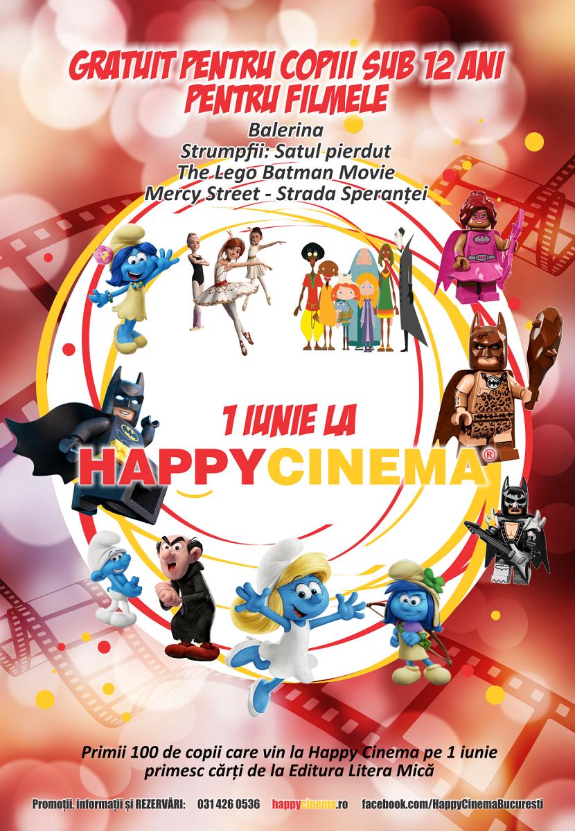 Happy Cinema: Proiectii gratuite cu animatii pentru copii