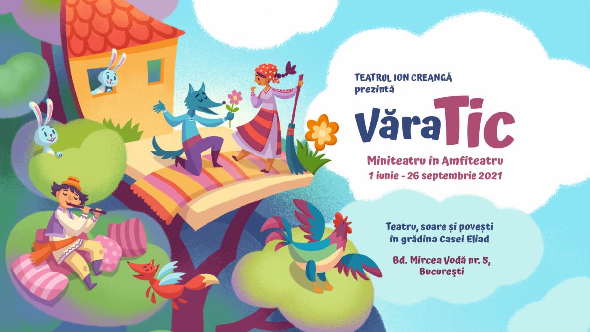 Teatrul Ion Creanga celebreaza 1 iunie  cu un program #VaraTIC in gradina Casei Eliad